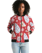 Load image into Gallery viewer, Red Christmas Women's Bomber Jacket-cloth-PureDesignTees