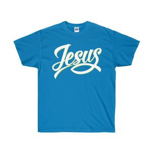 Jesus with Fish Design Unisex Ultra Cotton Tee-T-Shirt-PureDesignTees