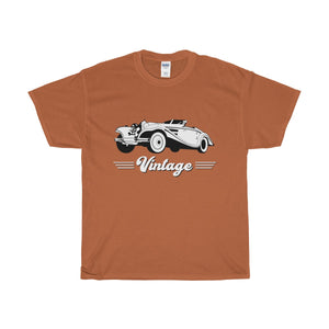 Vintage Car Heavy Cotton T-Shirt-T-Shirt-PureDesignTees