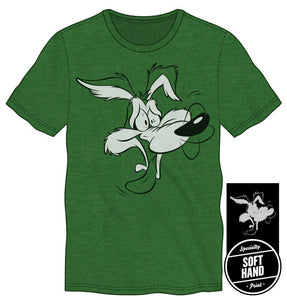 Looney Tunes Wile E. Coyote Men's Green T-Shirt Tee Shirt-t-shirt-PureDesignTees