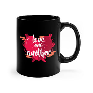 Love One Another Black mug 11oz-Mug-PureDesignTees