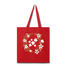 Load image into Gallery viewer, Floral Tote Bag-Tote Bag-PureDesignTees