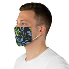 Load image into Gallery viewer, Watercolor Floral on Black Fabric Face Mask-Accessories-PureDesignTees