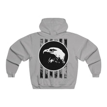 Load image into Gallery viewer, Bald Eagle with Stripes Men's NUBLEND® Hooded Sweatshirt-Hoodie-PureDesignTees