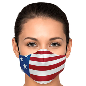 American Flag Face Mask-Fashion Face Mask - AOP-PureDesignTees