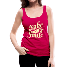 Load image into Gallery viewer, Wake Up and Smile Women's Premium Tank Top-Women's Premium Tank Top-PureDesignTees