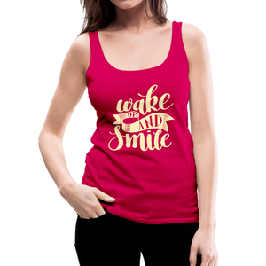 Wake Up and Smile Women's Premium Tank Top-Women's Premium Tank Top-PureDesignTees
