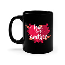 Load image into Gallery viewer, Love One Another Black mug 11oz-Mug-PureDesignTees