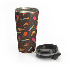 Load image into Gallery viewer, Ice Cream Treats Stainless Steel Travel Mug-Mug-PureDesignTees