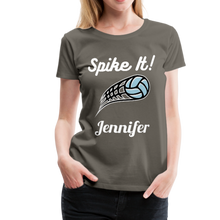 Load image into Gallery viewer, Spike It! Personalized Volleyball Women's Premium T-Shirt-Women's Premium T-Shirt-PureDesignTees