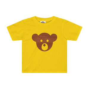 Teddy Bear Face Kids Tee-Kids clothes-PureDesignTees