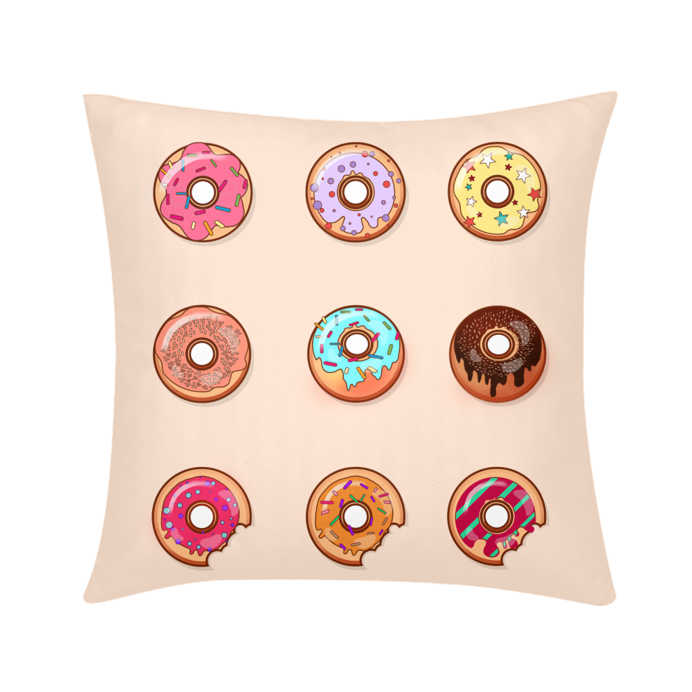 Donuts Throw Pillow Case 18
