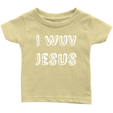 Load image into Gallery viewer, I Wuv Jesus Infant 100% Cotton T-Shirt-T-shirt-PureDesignTees