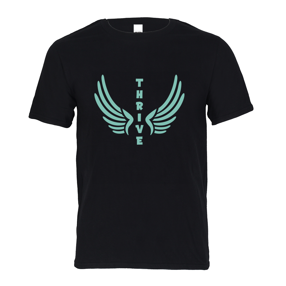 Thrive with Wings Kids Graphic Tee-cloth-PureDesignTees