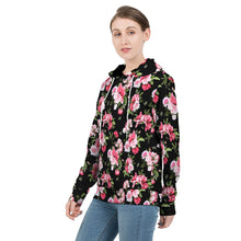 Load image into Gallery viewer, Peony Floral Print Women's Hoodie-cloth-PureDesignTees