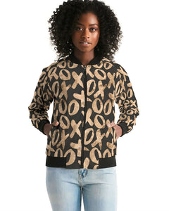 XOXO Women's Fashion Bomber Jacket-women's bomber jacket-PureDesignTees