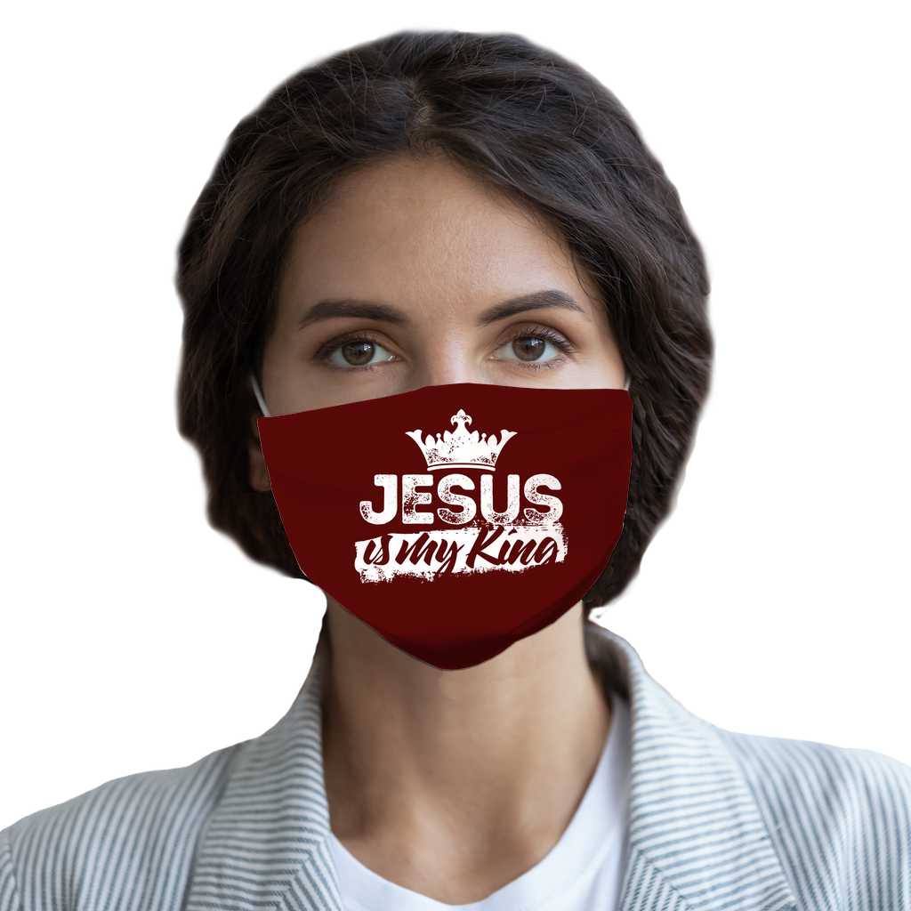 Jesus is My King Face Mask-Apparel-PureDesignTees