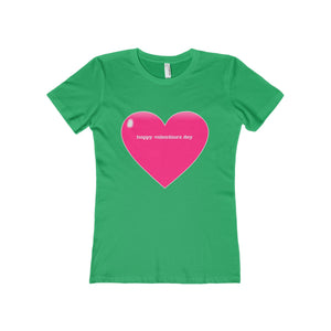 Happy Valentine's Day Women's The Boyfriend Tee-T-Shirt-PureDesignTees