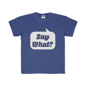 Say What? Youth Regular Fit Tee-Kids clothes-PureDesignTees