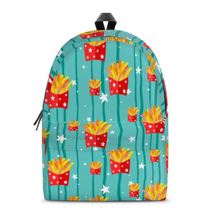 Freedom Fries - All Over Print Cotton Backpack-Bags-PureDesignTees
