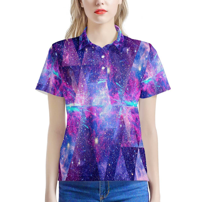 Intergalactic - Women's All Over Print Polo Shirt-Women-PureDesignTees