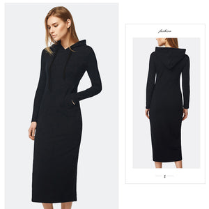 Autumn & Winter Casual Ankle-length Long Sleeve Dress-Dress-PureDesignTees
