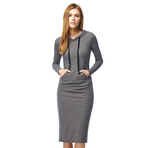 Autumn & Winter Casual Ankle-length Long Sleeve Dress - PureDesignTees