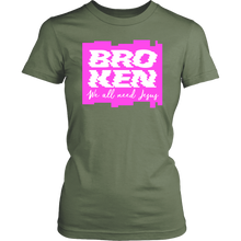 Load image into Gallery viewer, Broken - We all need Jesus Women's T-Shirt-T-shirt-PureDesignTees