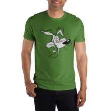 Load image into Gallery viewer, Looney Tunes Wile E. Coyote Men's Green T-Shirt Tee Shirt, t-shirt - PureDesignTees