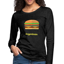 Load image into Gallery viewer, Burgertarian Women's Premium Long Sleeve T-Shirt-Women's Premium Long Sleeve T-Shirt-PureDesignTees