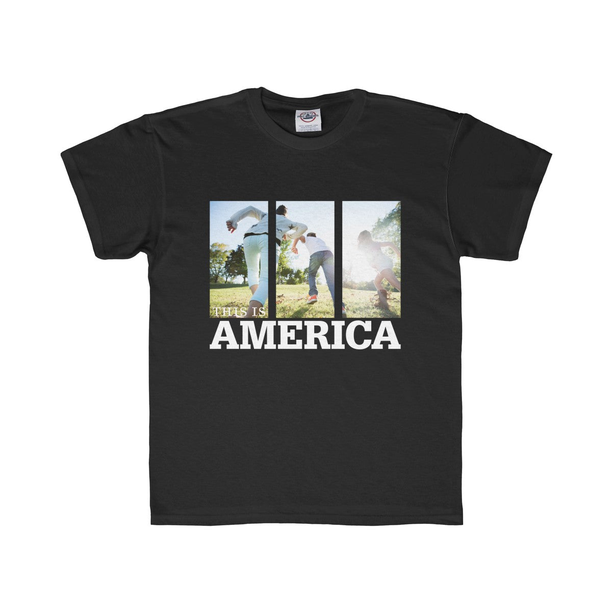 This is America - Children Running Kids Regular Fit Tee, Kids clothes - PureDesignTees