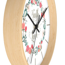 Load image into Gallery viewer, Faith Hope Love Wall clock-Home Decor-PureDesignTees