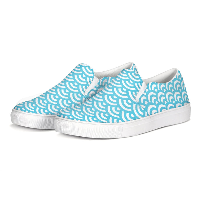 Abstract Waves Slip-On Canvas Shoe-shoes-PureDesignTees
