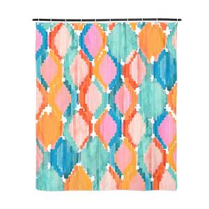 "Marmalade Ikat Shower Curtain 72""x60""-home goods-PureDesignTees"
