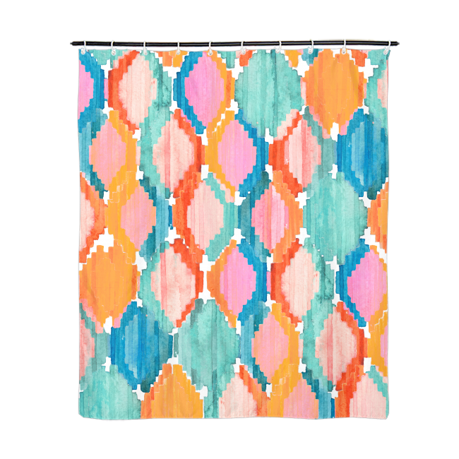 Marmalade Ikat Shower Curtain 72