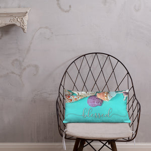 Blessed Nautical Shells Premium Pillow-Throw Pillow-PureDesignTees