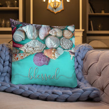 Load image into Gallery viewer, Blessed Nautical Shells Premium Pillow-Throw Pillow-PureDesignTees