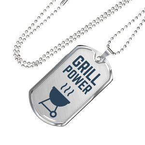 Grill Power Dogtag Military Necklace