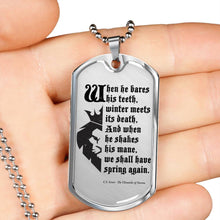 Load image into Gallery viewer, Narnia Quote Dogtag