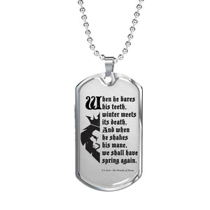 Narnia Quote Dogtag