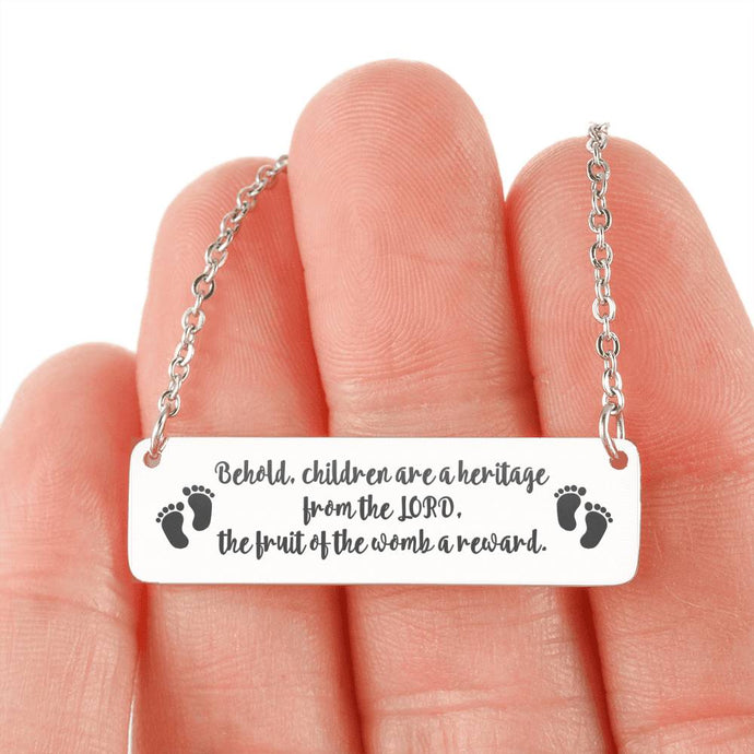 Children are a Heritage Horizontal Bar Necklace-Jewelry-PureDesignTees