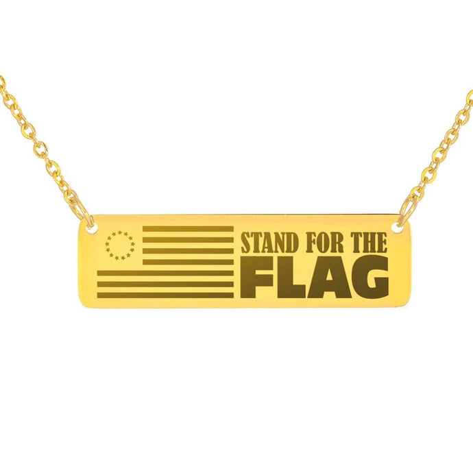 Stand for the Flag Necklace-Jewelry-PureDesignTees