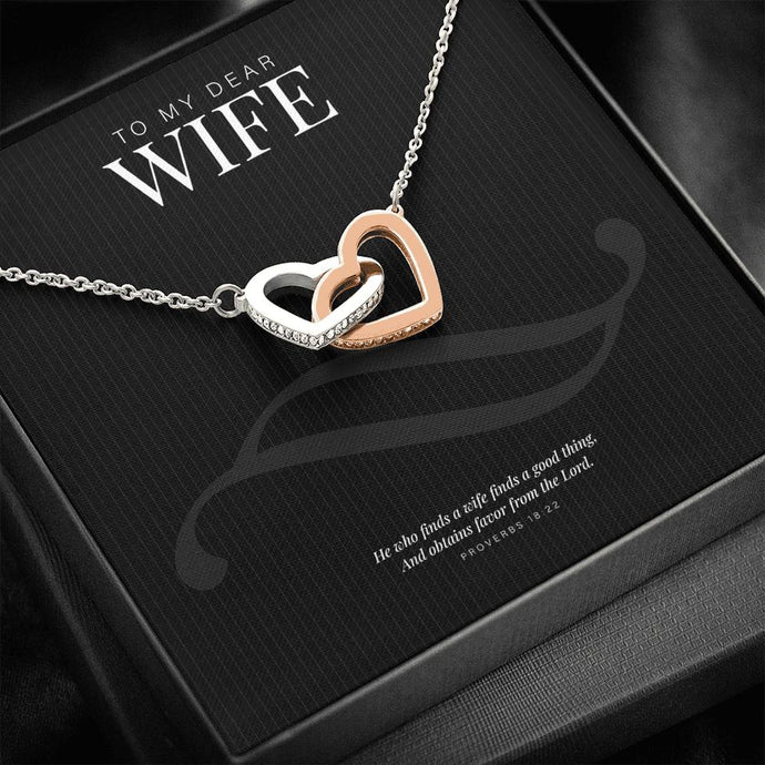 Two Hearts Necklace for Christian Wife-Jewelry-PureDesignTees