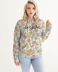 Inspire Floral Women's Hoodie-cloth-PureDesignTees