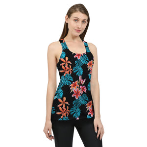 Tropical Floral Women's Tank-cloth-PureDesignTees