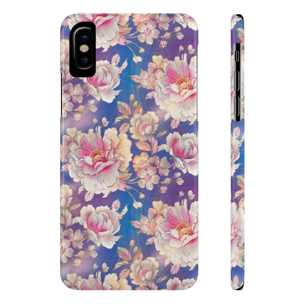 Peony Pattern Case Mate Slim Phone Cases-Phone Case-PureDesignTees