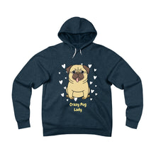 Load image into Gallery viewer, Crazy Pug Lady Unisex Sponge Fleece Pullover Hoodie-Hoodie-PureDesignTees