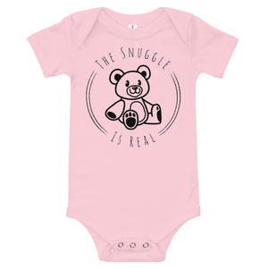 The Snuggle is Real Baby short sleeve one piece-Baby Onesie-PureDesignTees