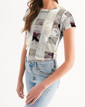 Load image into Gallery viewer, Rose Plaid Women's Tee-cloth-PureDesignTees