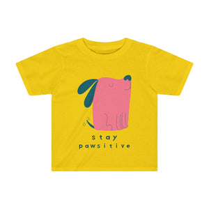 Stay Pawsitive Kids Tee-Kids clothes-PureDesignTees